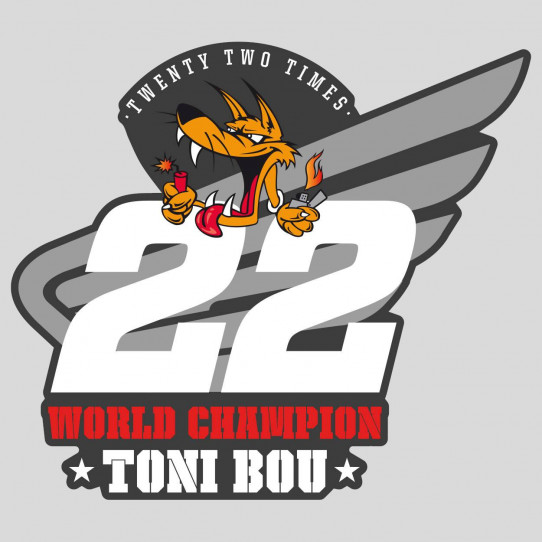 Stickers honda world champion toni bou