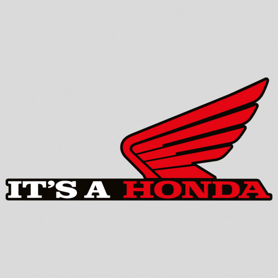 Stickers it's a honda