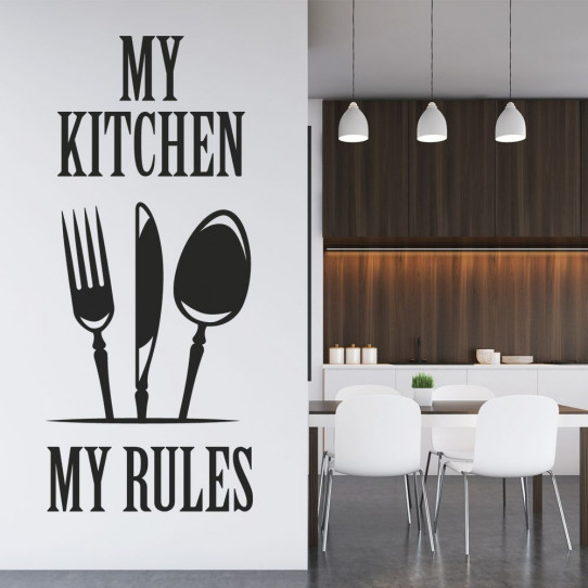 Stickers my kitchen my rules