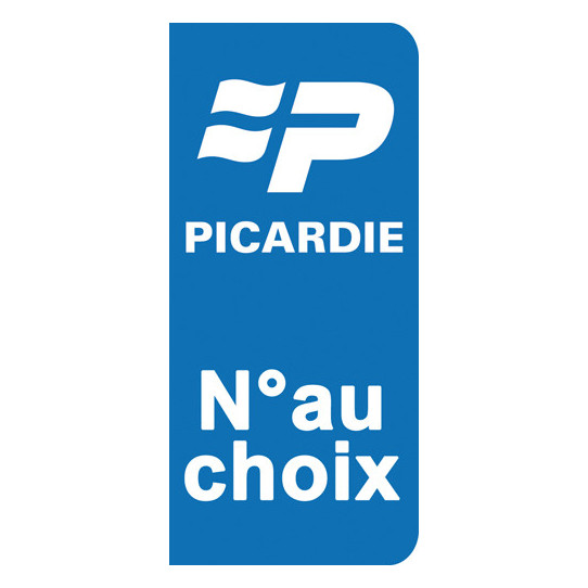 Stickers Plaque Picardie