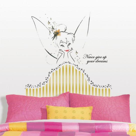 Stickers Tête de Lit Fée Clochette Disney Fairies