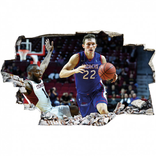 Stickers Trompe l'oeil 3D - Basket 4