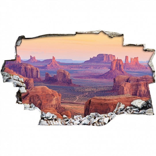 Stickers Trompe l'oeil 3D - Canyon 4