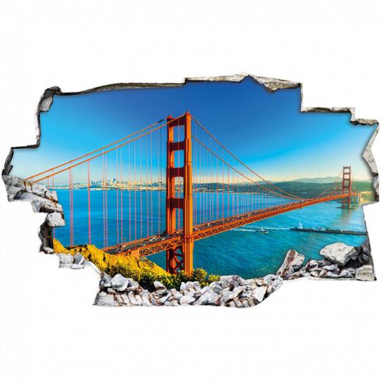 Stickers Trompe l'oeil 3D - San francisco