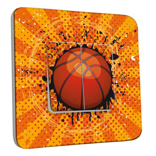 Interrupteur Décoré Double Va et Vient - Basket-Ball 1