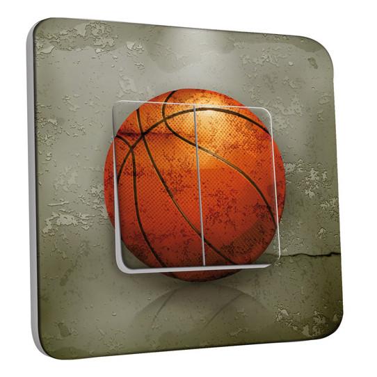 Interrupteur Décoré Double Va et Vient - Basket-Ball 2