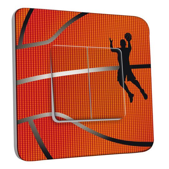 Interrupteur Décoré Double Va et Vient - Basket-Ball Zoom