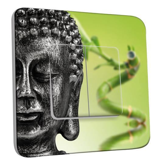 Interrupteur Décoré Double Va et Vient - Bouddha Zen 2