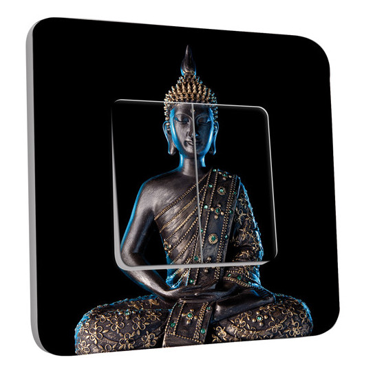 Interrupteur Décoré Double Va et Vient - Bouddha Zen 3