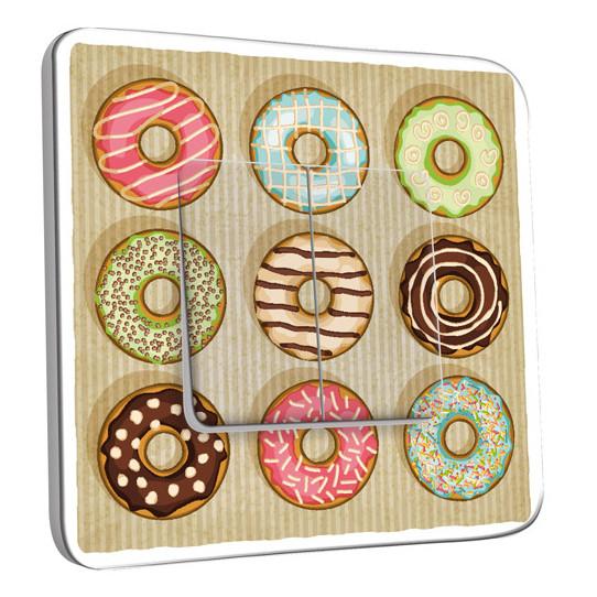 Interrupteur Décoré Double Va et Vient - Cuisine Gâteaux Donuts