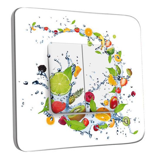 Interrupteur Décoré Double Va et Vient - Cuisine Life Style fruits