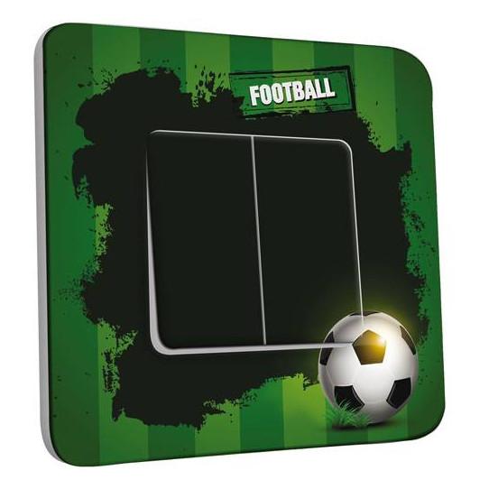 Interrupteur Décoré Double Va et Vient - Football 1