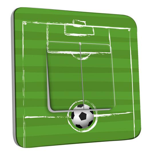 Interrupteur Décoré Double Va et Vient - Football