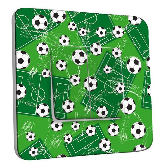 Interrupteur Décoré Double Va et Vient -Football 4