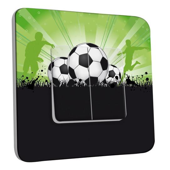 Interrupteur Décoré Double Va et Vient - Football 6