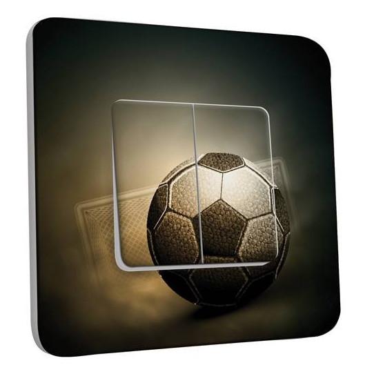Interrupteur Décoré Double Va et Vient - Football Retro