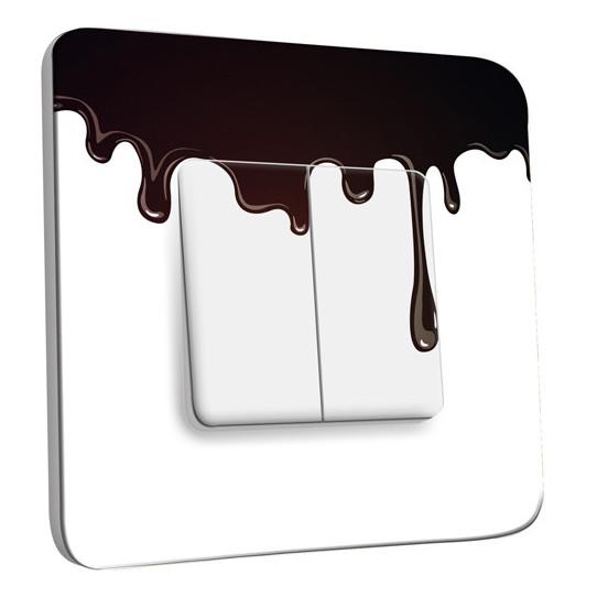 Interrupteur Décoré Double Va et Vient - Imitation Chocolat