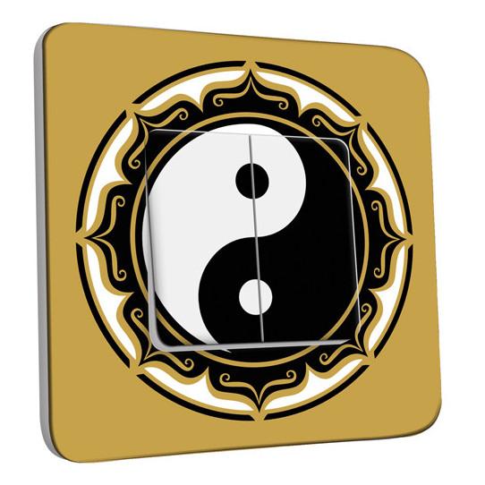Interrupteur Décoré Double Va et Vient - Motif Chinois YingYang