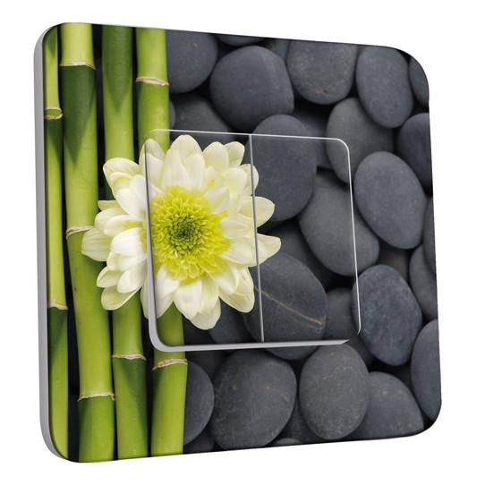 Interrupteur Décoré Double Va et Vient - Nature-Pierres,Bambou Fleur 4