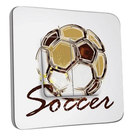 Interrupteur Décoré Double Va et Vient - Soccer