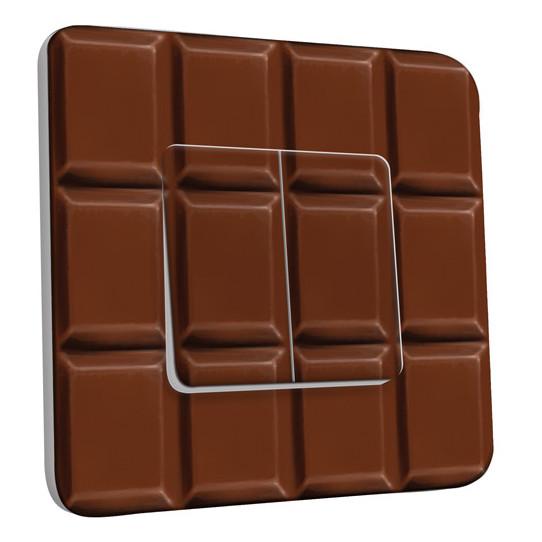 Interrupteur Décoré Double Va et Vient - Tablette de chocolat