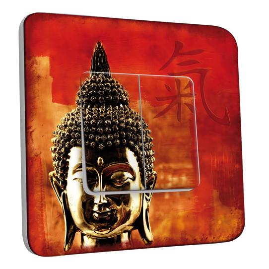 Interrupteur Décoré Double Va et Vient - Tête de Bouddha Zoom 1