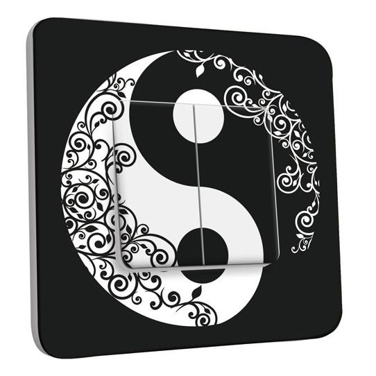 Interrupteur Décoré Double Va et Vient - Ying et Yang 1