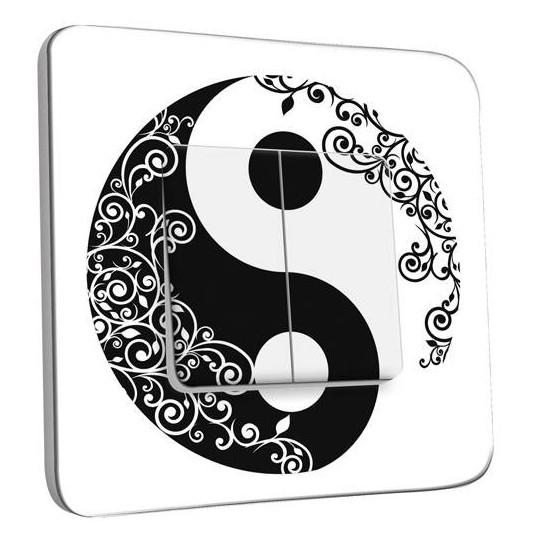 Interrupteur Décoré Double Va et Vient - Ying et Yang