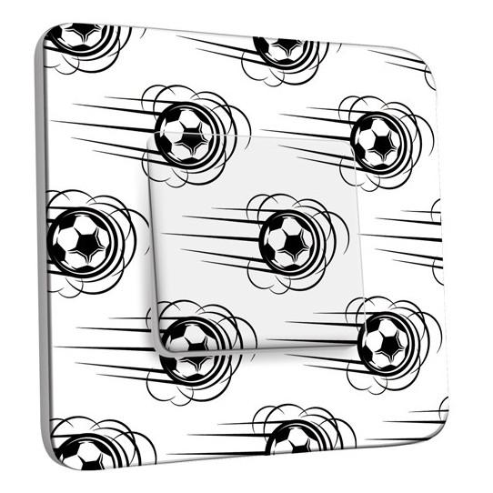 Interrupteur Décoré Simple Va et Vient - Ballon de foot Black&White 1