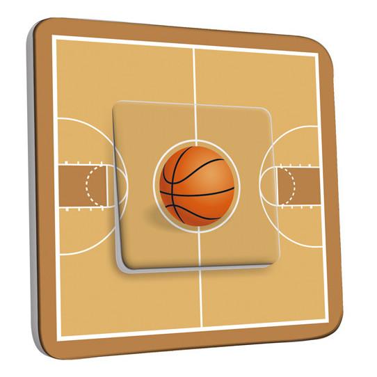 Interrupteur Décoré Simple Va et Vient - Basket-Ball