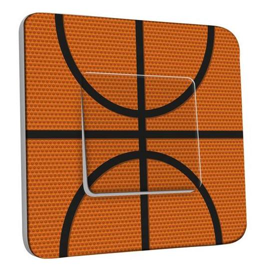 Interrupteur Décoré Simple Va et Vient - Basket-Ball Zoom 1