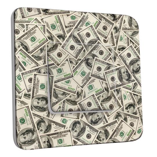 Interrupteur Décoré Simple Va et Vient - Dollars