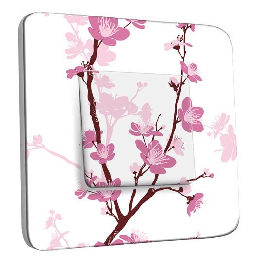 Interrupteur Décoré Simple Va et Vient - Fleurs de Cerisier 1