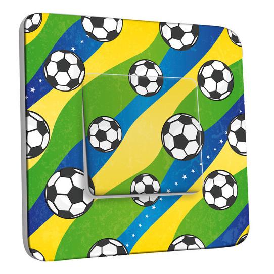Interrupteur Décoré Simple Va et Vient - Football 3
