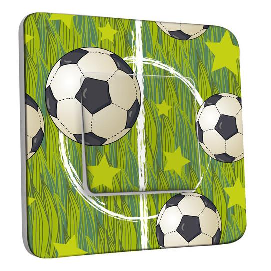 Interrupteur Décoré Simple Va et Vient - Football 5