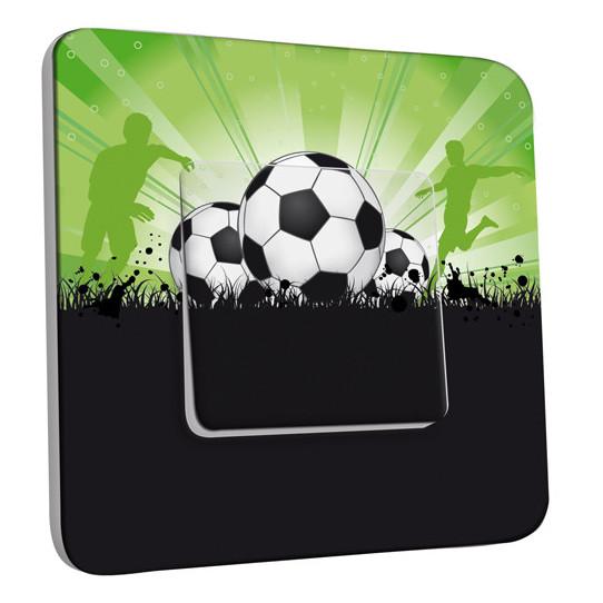 Interrupteur Décoré Simple Va et Vient - Football 6