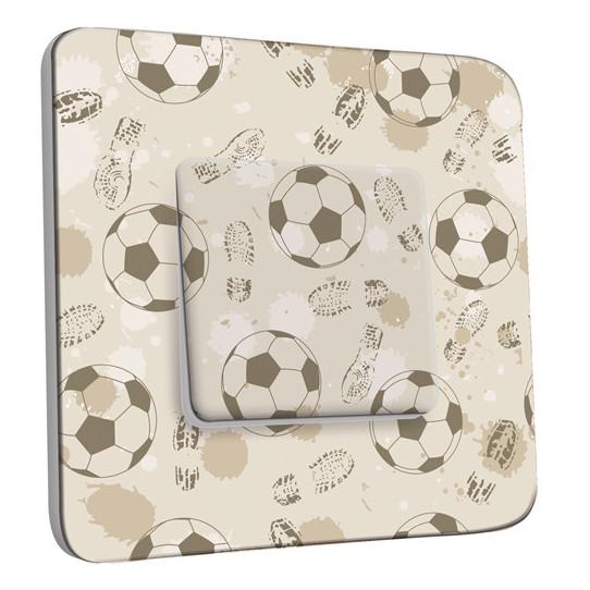 Interrupteur Décoré Simple Va et Vient - Football Retro 1