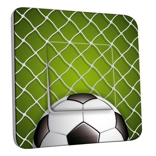 Interrupteur Décoré Simple Va et Vient - Football Zoom