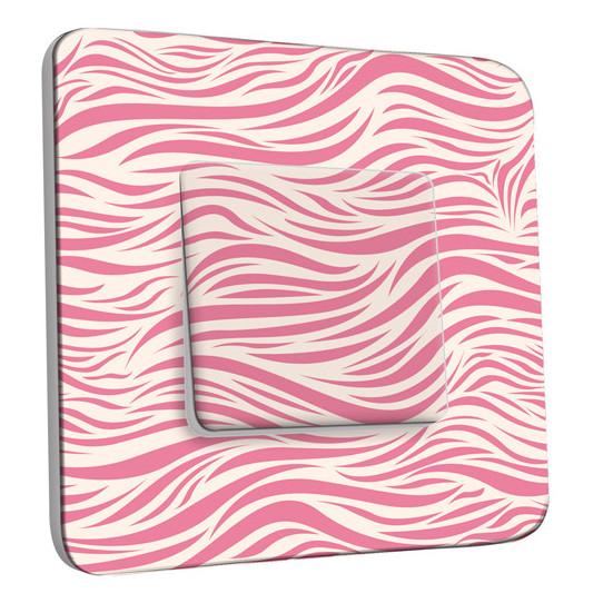 Interrupteur Décoré Simple Va et Vient - Illusion White&Pink