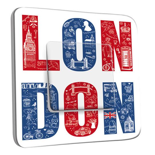 Interrupteur Décoré Simple Va et Vient - London