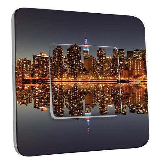 Interrupteur Décoré Simple Va et Vient - New York Manhatan