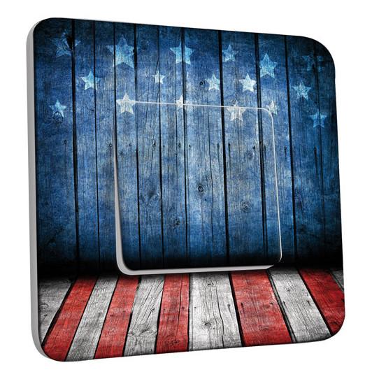 Interrupteur Décoré Simple Va et Vient - Scène Américaine