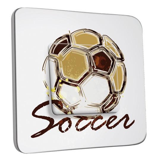 Interrupteur Décoré Simple Va et Vient - Soccer
