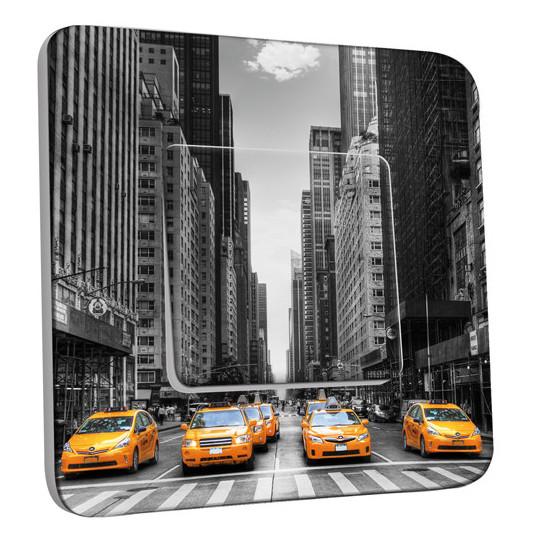 Interrupteur Décoré Simple Va et Vient - Taxi New York
