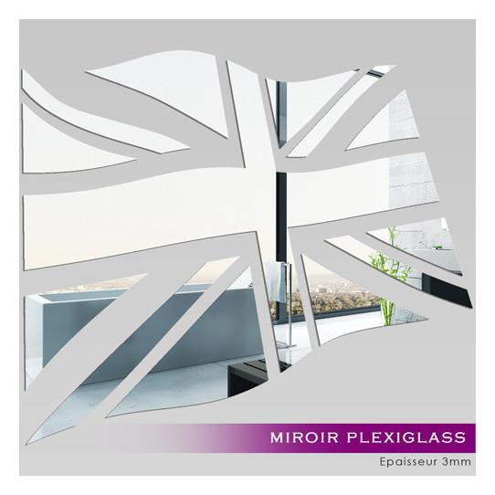 Miroir Plexiglass Acrylique - Drapeau Anglais