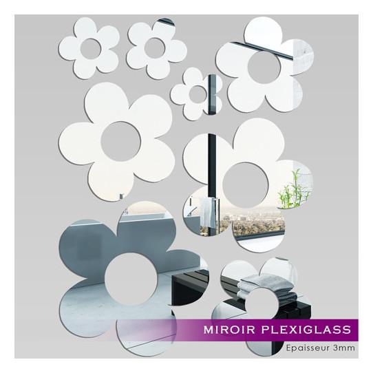Miroir Plexiglass Acrylique - Fleurs MiniMaxi