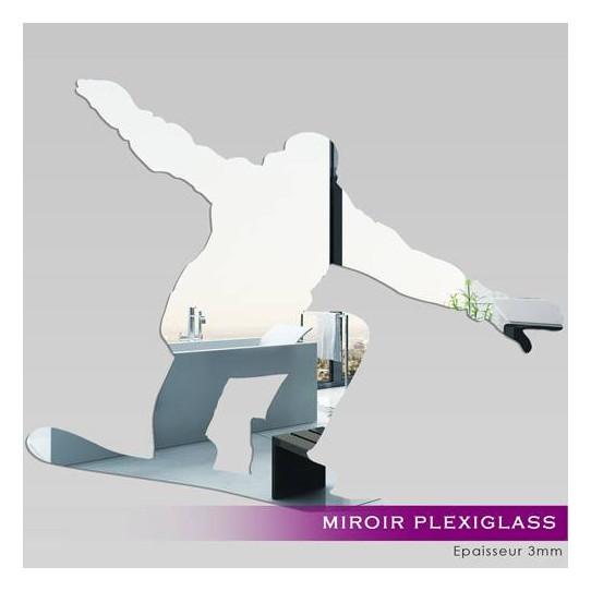 Miroir Plexiglass Acrylique - Snowboarder