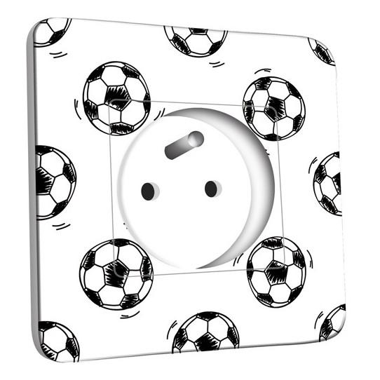 Prise décorée - Ballon de foot Black&White