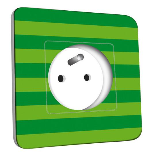 Prise décorée - Ballon de foot Fond vert