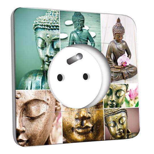 Prise décorée - Bouddha en Plusieurs Images
